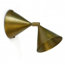 Small spotlight with Ø 9 cm cones, brass or zinc