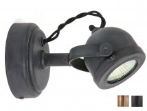 Small nostalgia wall-mounted spotlight made of copper