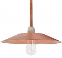 BONN Simple rod pendant lamp made of copper