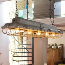 Long factory hanging lamp LOAD for tables and counters