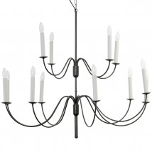 Large candlestick chandelier with candle burners from France