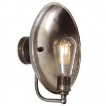 Nostalgic wall light with brass reflector CULL