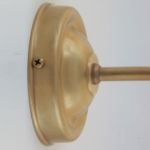 Jugendstil-Bilderleuchte 19 cm aus Messing von Jugendstil-Leuchtenwerkstatt, Bild 5: Der Wandschild in Messing goldgelb handpatiniert