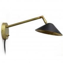 schwenkbar #2674-1//2 Messing Wandlampe FORM Leuchte um 1980
