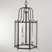 DIRECTOIRE Large brass hanging lantern from France