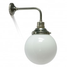 Simple ball lamp with opal glass, Ø 20 to 35 cm