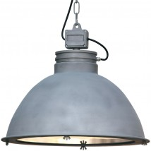 ORE Large industrial loft lamp with glass bottom