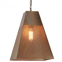 PASCAL pendant lamp with perforated brass shade