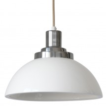 Porcelain shade pendant lamp from the COSMO manufactory