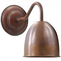 PYGOZA Nostalgic copper wall lamp with arched arm