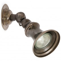 Rustic brass spotlight from Ireland
