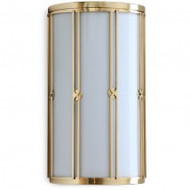 ART DÉCO wall light S2M made of polished brass