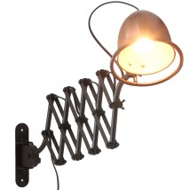 CUMINO Scissor light with copper shade