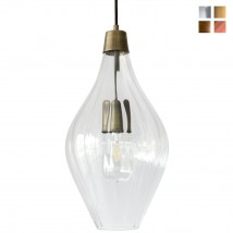Artistic glass pendant luminaire, various glass colors