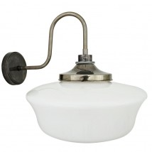 Swan neck schoolhouse wall lamp, IP44
