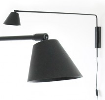 Wall lamp with long swinging boom arm D270