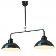 SOLINGEN II Double pendant lamp with Bauhaus shades