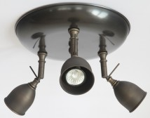 Ceiling light with three spotlights made of antique brass von Atelier MB, Image 4