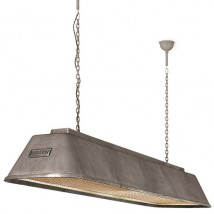 Long industrial pendant light for tables and counters BIS von Breda Leuchten, Image 8: großes Modell