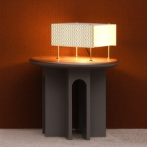 Mid Century table light G61 by P. Guariche, perforated metal sheet von Pierre Guariche, Image 10