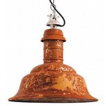 shabby chic fabriklampe mit echter rost patina casa lumi. Black Bedroom Furniture Sets. Home Design Ideas