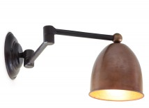 LIVORNA Wall light on a jointed arm with copper shade